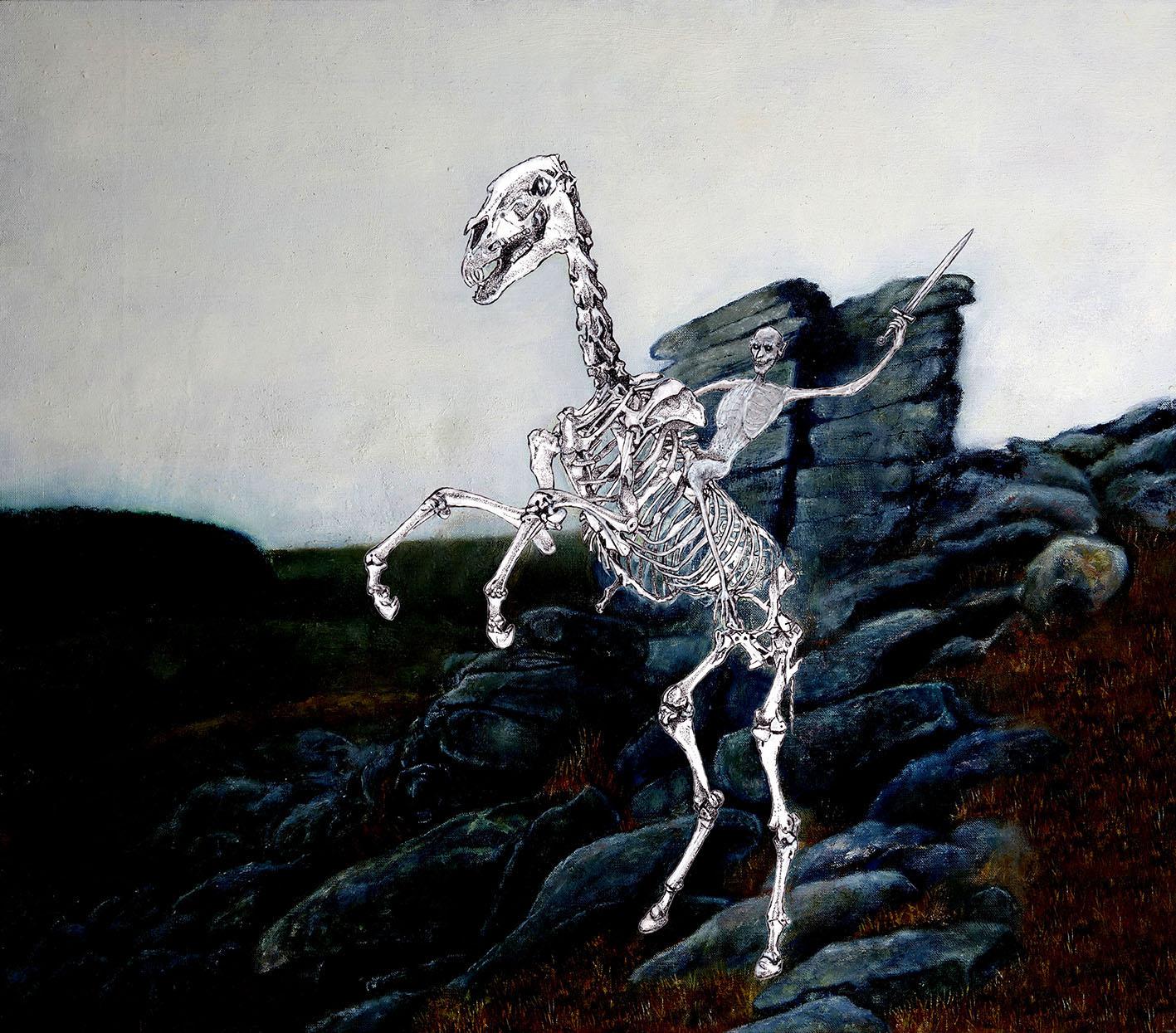 Ethan-Pennell_Old Crockern, Guardian Spirit of Dartmoor (oil on canvas/pen & ink)
